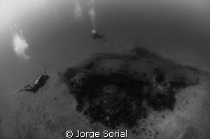 Wreck of a DC-3 airplane. On September 16, 1966, soon aft... by Jorge Sorial 